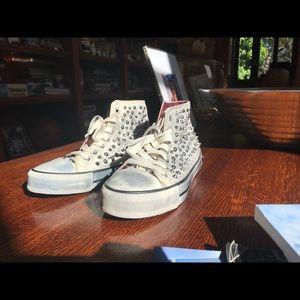 Zara Trafaluc Studded High Top Sneakers